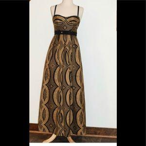 Nanette Lepore Indochine gold and black dress